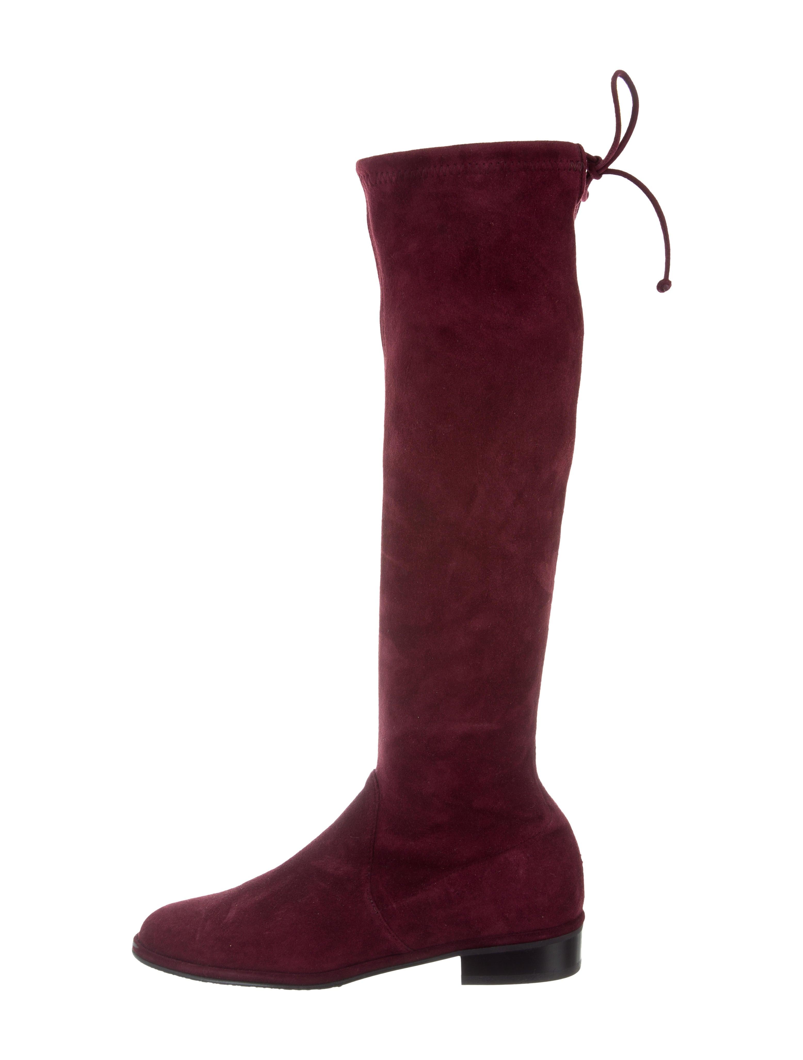 5e6bc3fe3fc Stuart Weitzman Kneezie Suede Boots - Shoes - WSU35176