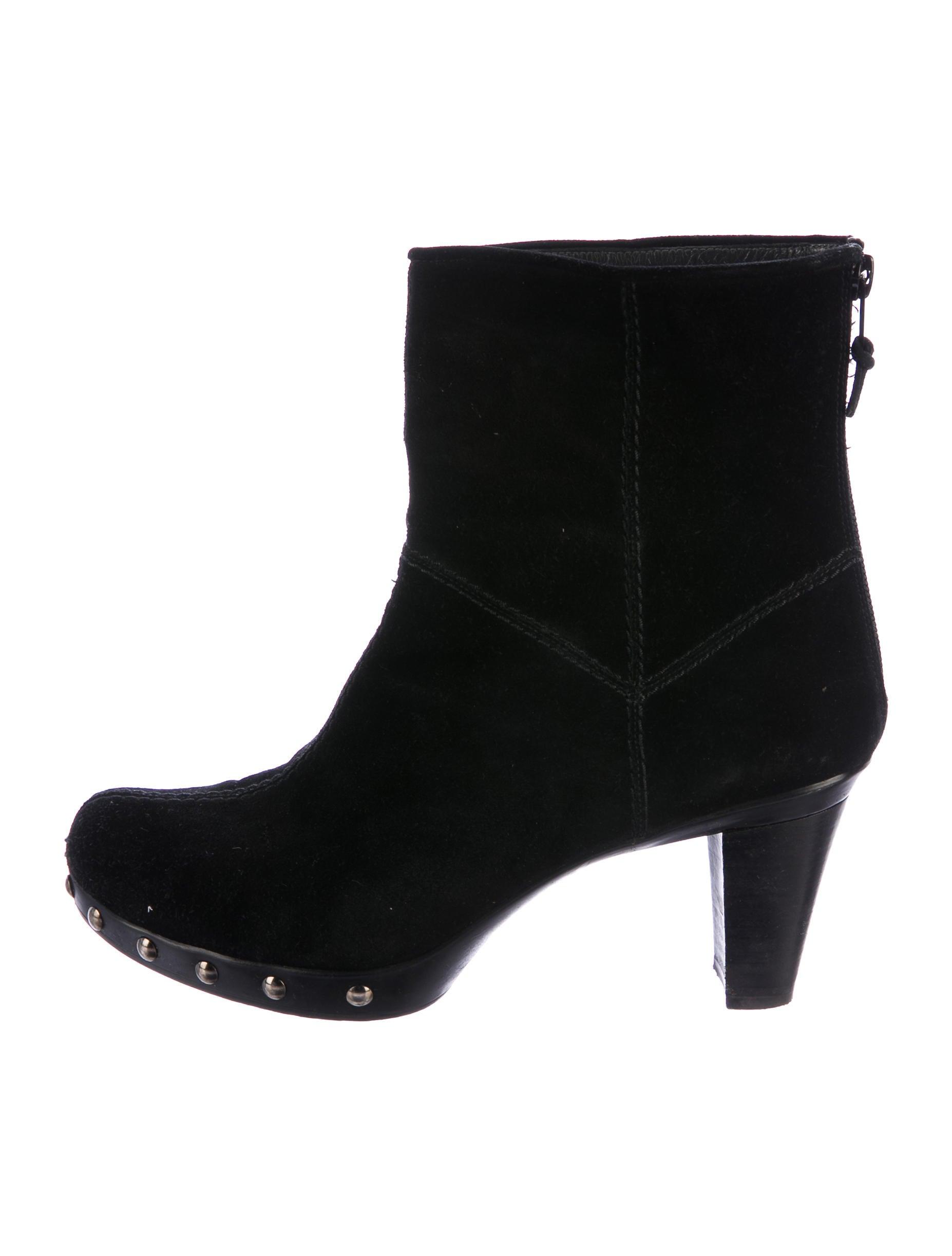 stuart weitzman toe suede ankle boots shoes