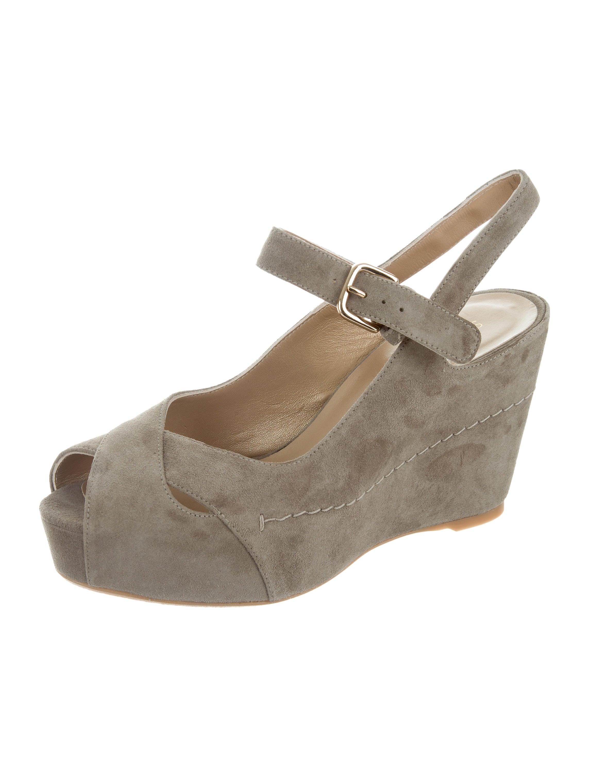 stuart weitzman suede wedge sandals shoes wsu35631