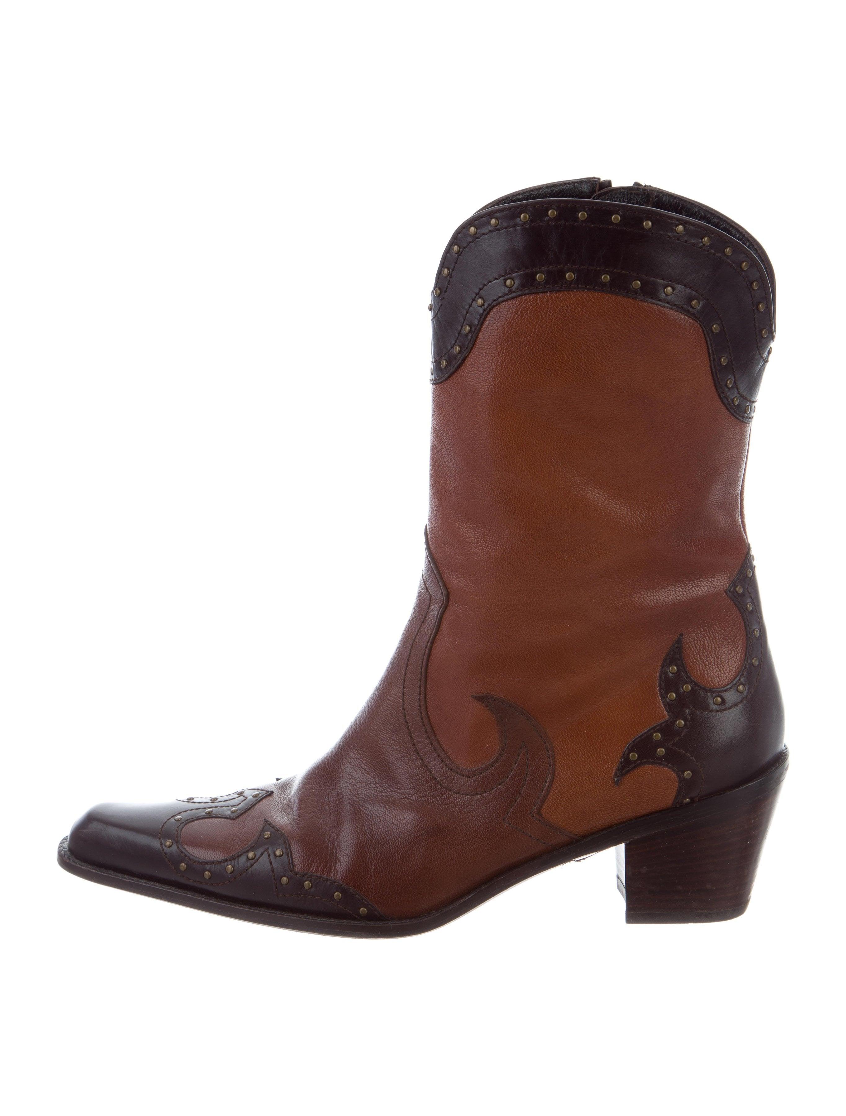 Stuart Weitzman Leather Cowboy Boots Shoes Wsu36526