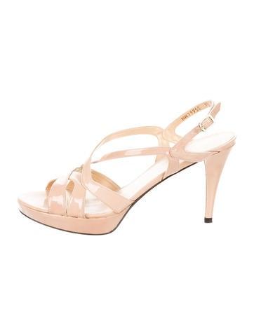 Stuart Weitzman Patent Leather Multistrap Sandals None