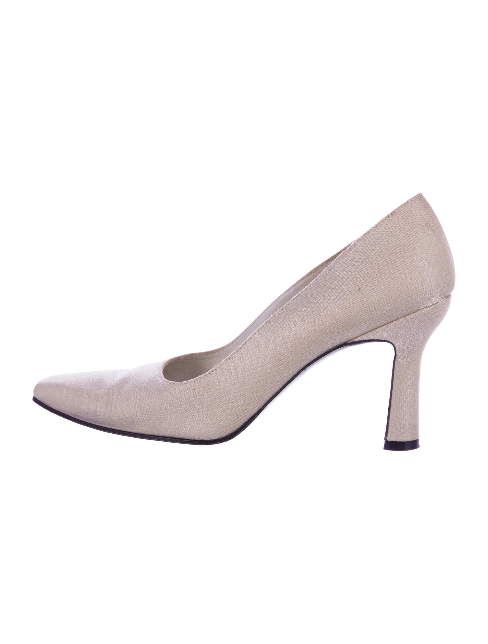 authentic Stuart Weitzman Metallic Square-Toe Pumps discount pay with visa many kinds of sale online PMxdQnUoJ