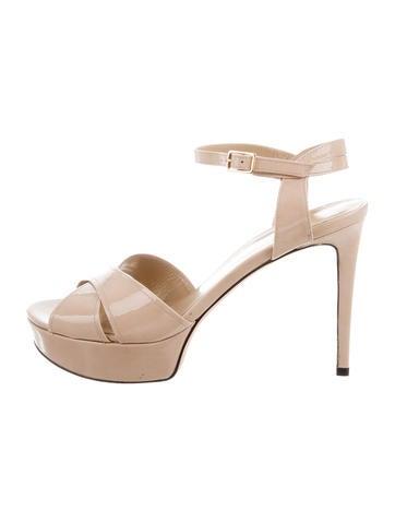 Stuart Weitzman Patent Leather Platform Sandals None