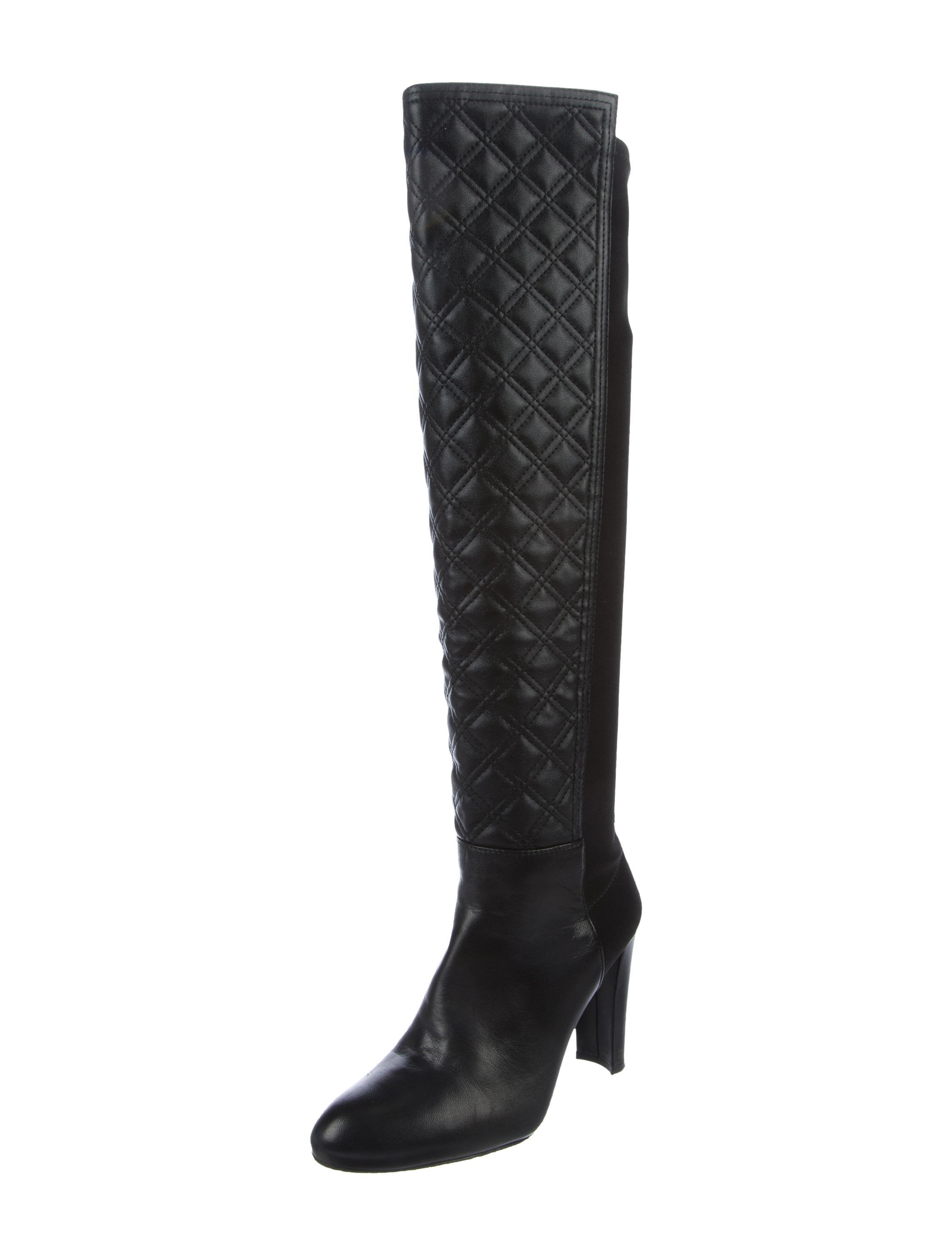 Stuart Weitzman Quilted 50/50 Knee-High Boots - Shoes - WSU38410 ... : stuart weitzman quilted boots - Adamdwight.com