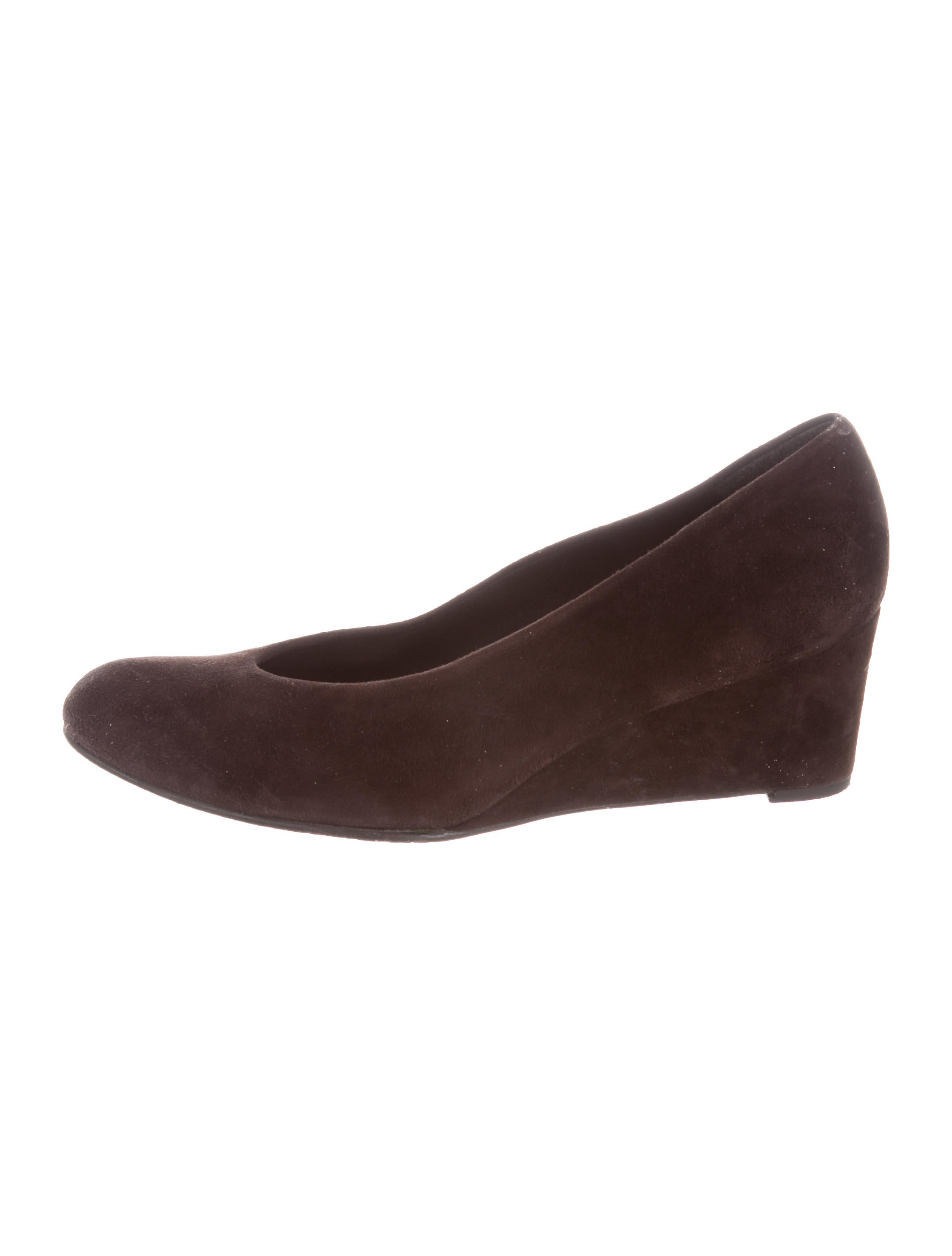 Stuart Weitzman Suede Round-Toe Wedges free shipping discount 9DMEEW