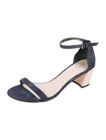 cheap buy authentic discount official site Stuart Weitzman Denim Multistrap Sandals wsgJyuWn