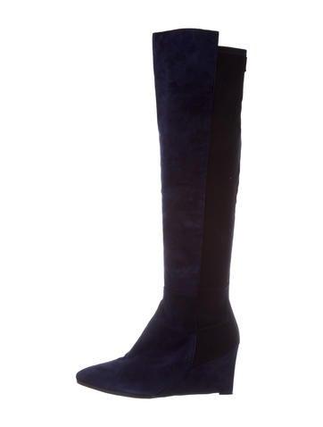 store for sale Stuart Weitzman Suede 50/50 Wedge Boots discount manchester great sale OQTvJ1c