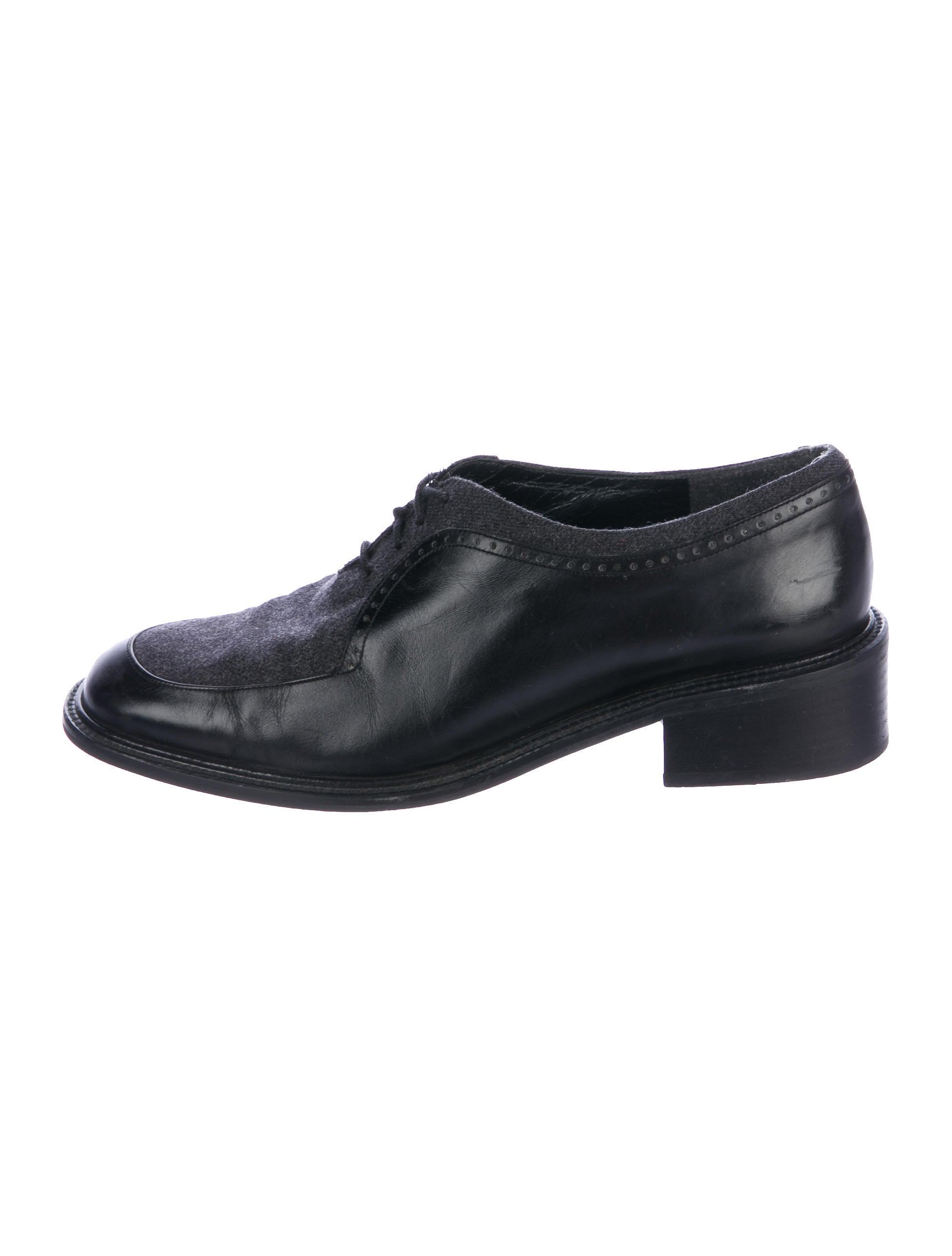 Stuart Weitzman Round-Toe Leather Oxfords sale discounts ad6KUT