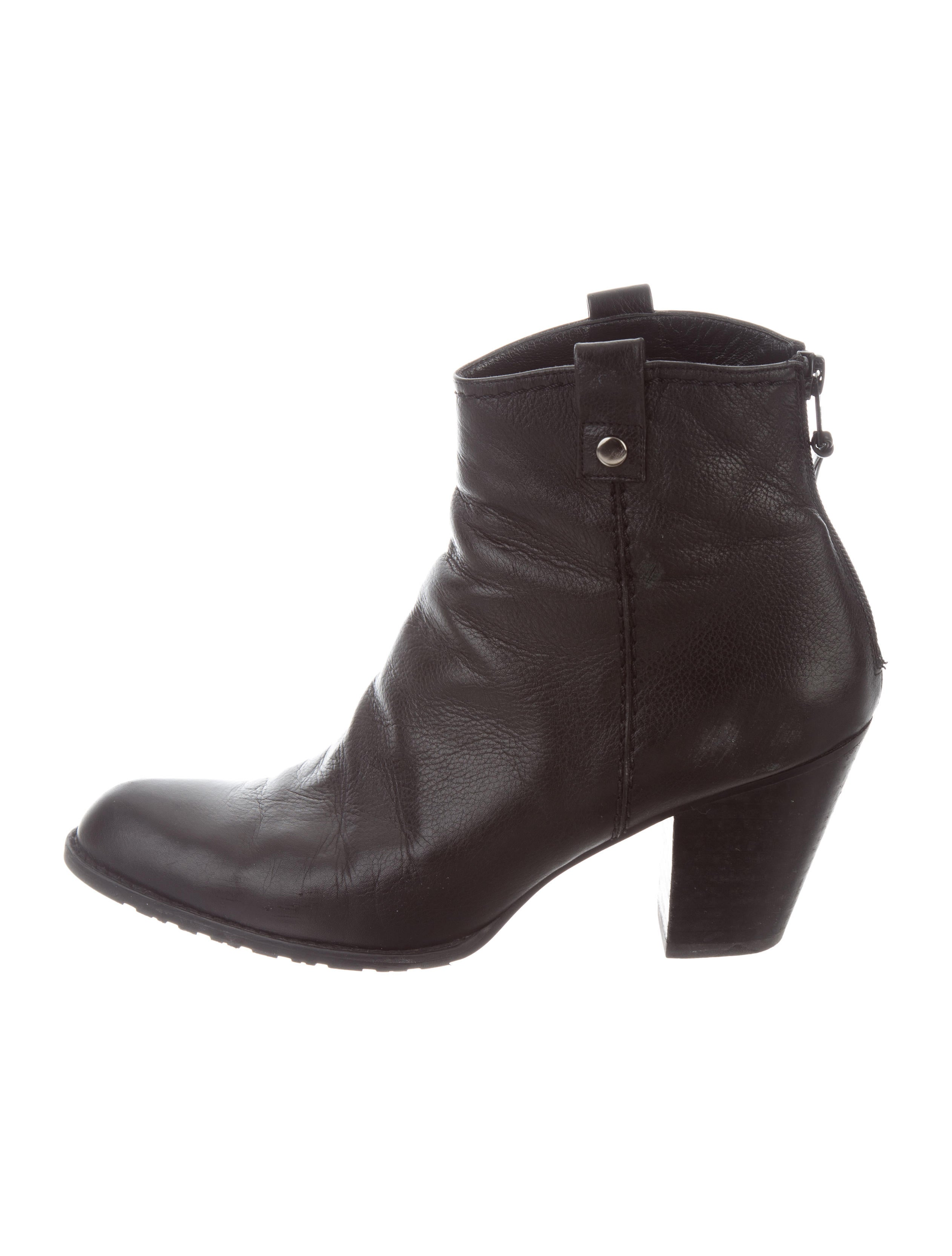 Stuart Weitzman Leather Round-Toe Ankle Boots outlet order under 50 dollars HsHX4QxLG