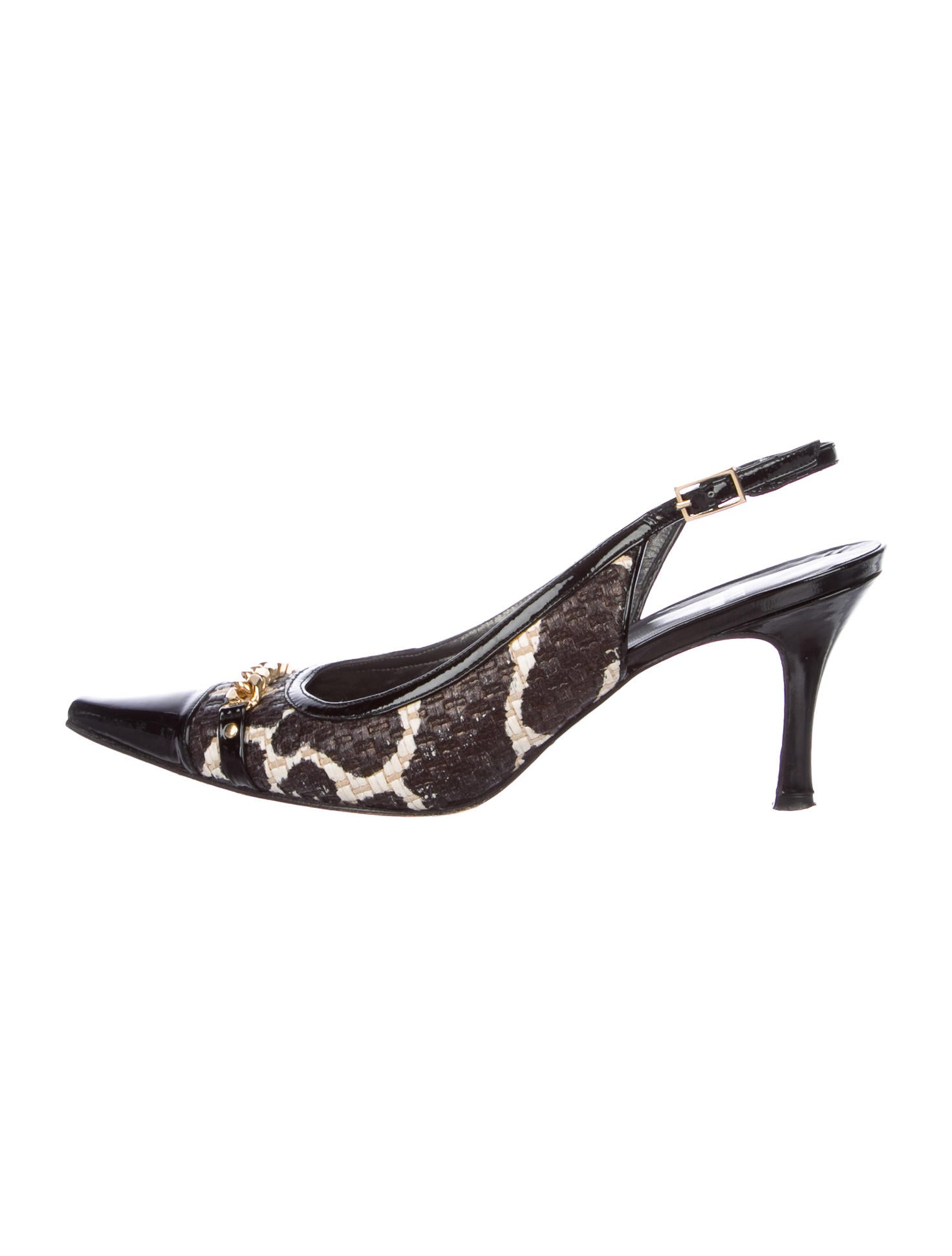 Stuart Weitzman Chain-Link Slingback Pumps free shipping get to buy clearance manchester great sale online sale outlet cheap authentic cheap price wholesale price thweQ9v