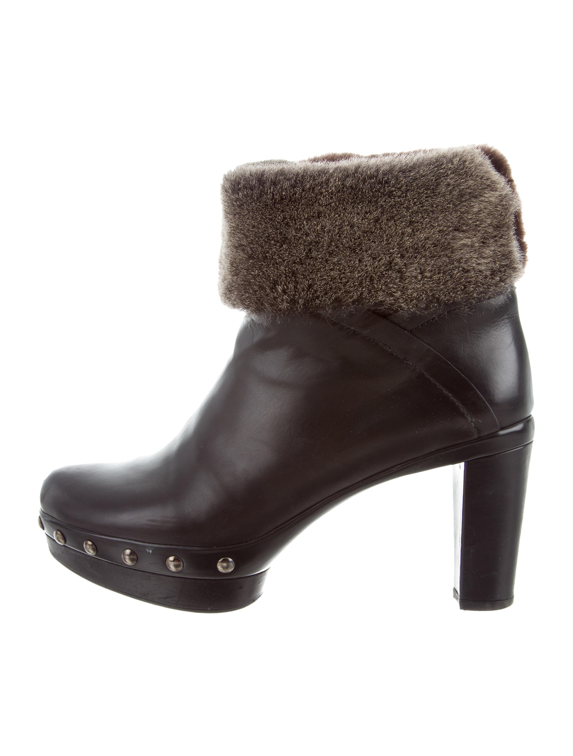 Stuart Weitzman Leather Shearling-Lined Ankle Boots w/ Tags clearance brand new unisex rDlZ89