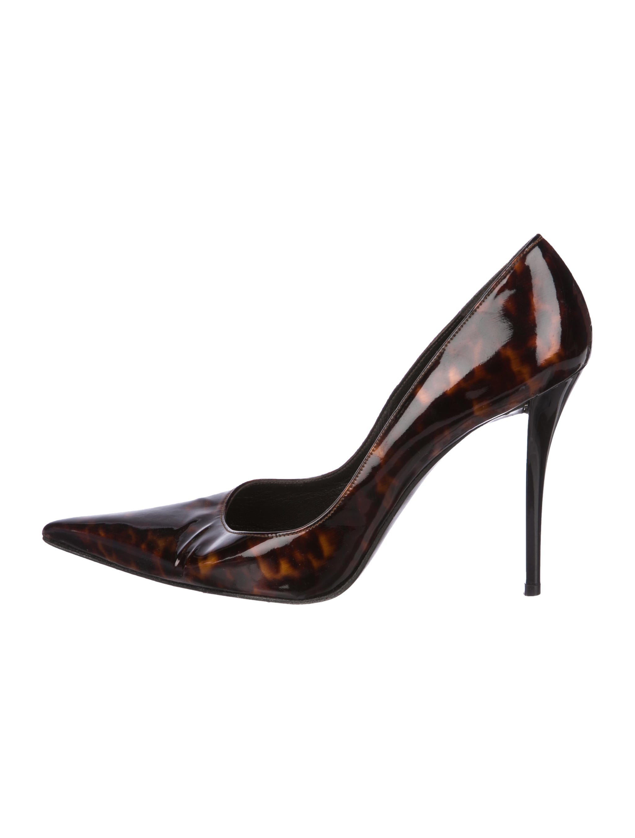 Stuart Weitzman Pointed-Toe Tortoiseshell Pumps