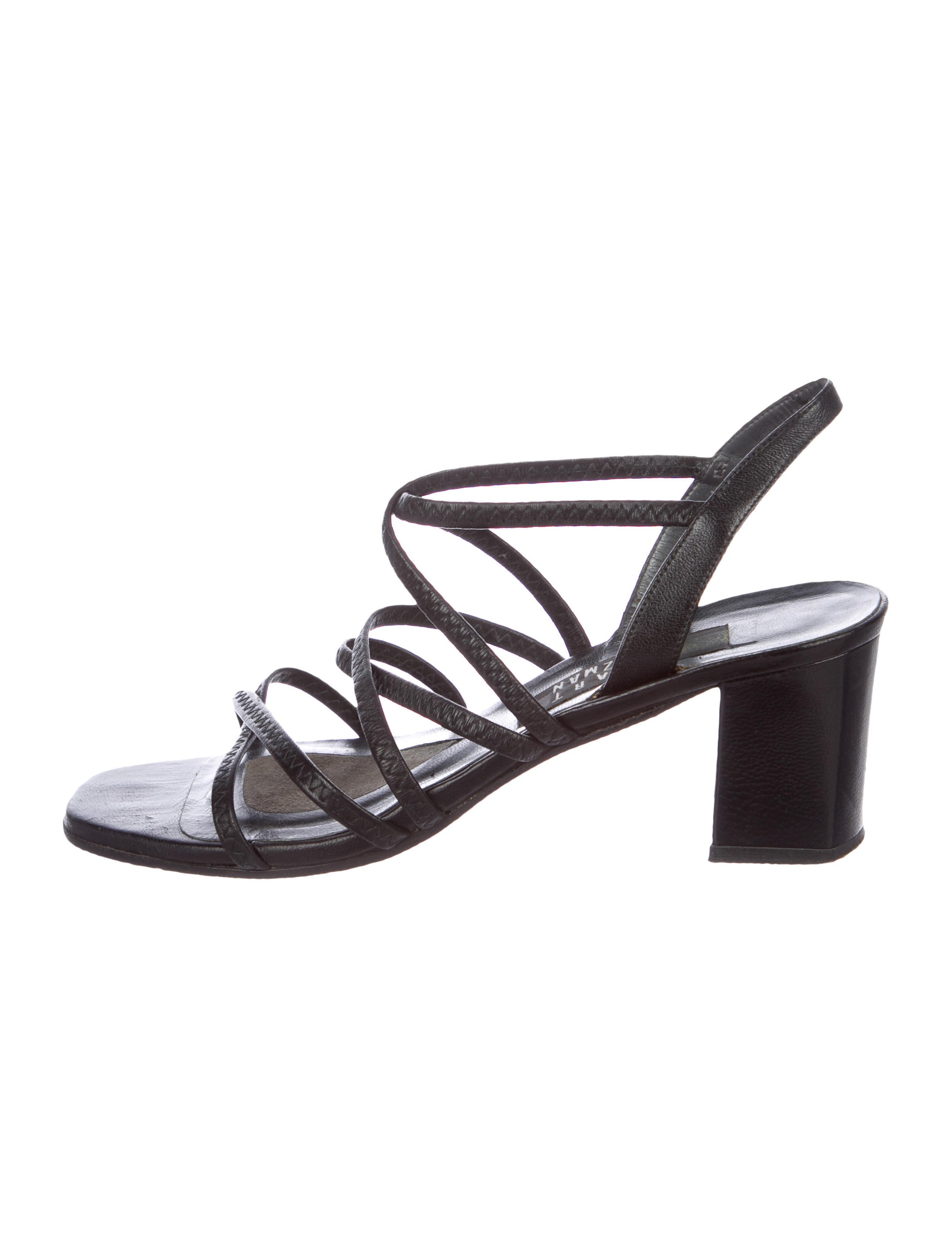 Stuart Weitzman Leather Multistrap Sandals genuine cheap price outlet store online for cheap for sale free shipping reliable outlet 100% authentic 9nf38fe