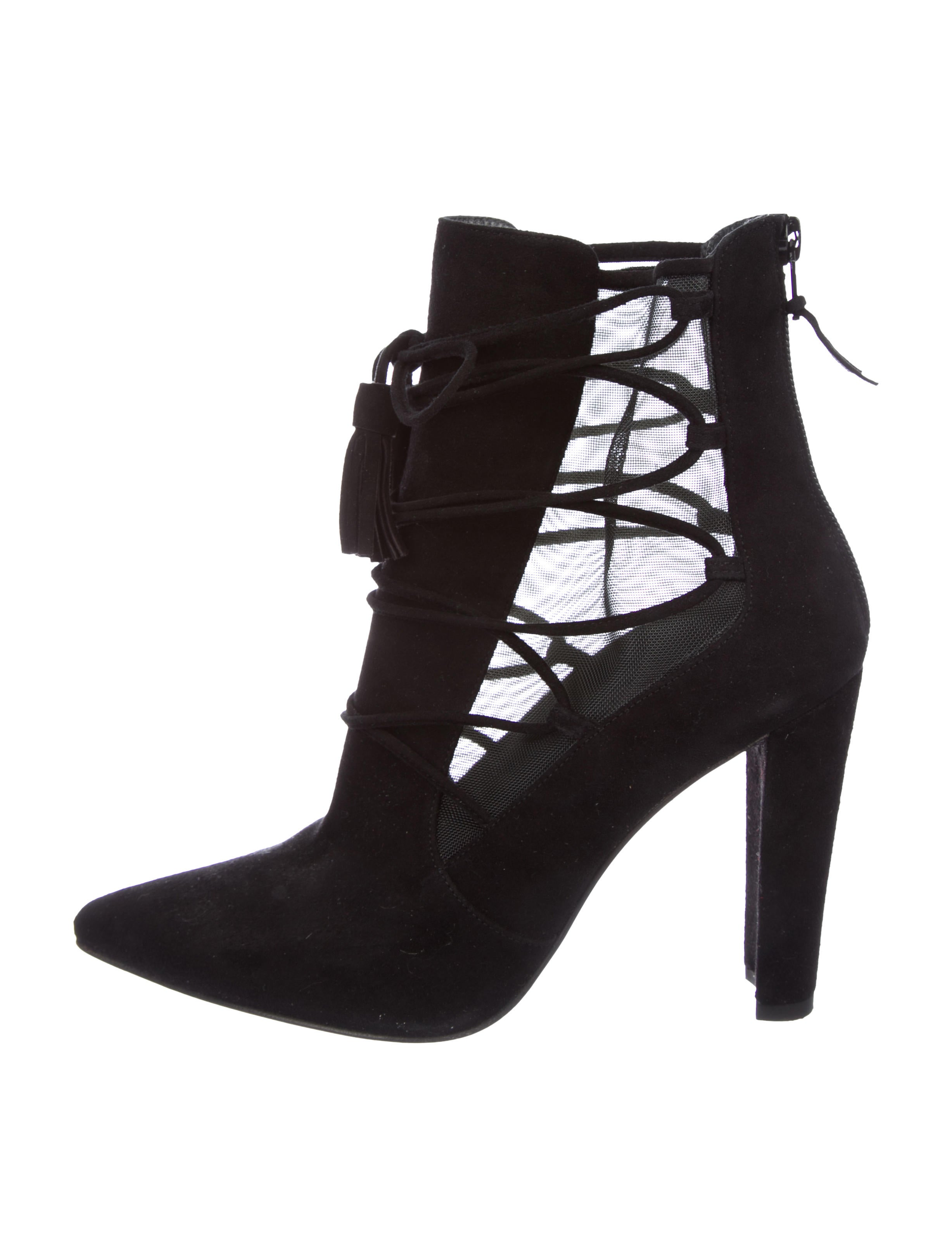 Stuart Weitzman Borderline Mesh-Accented Ankle Boots real cheap price xiPGXXIfdg
