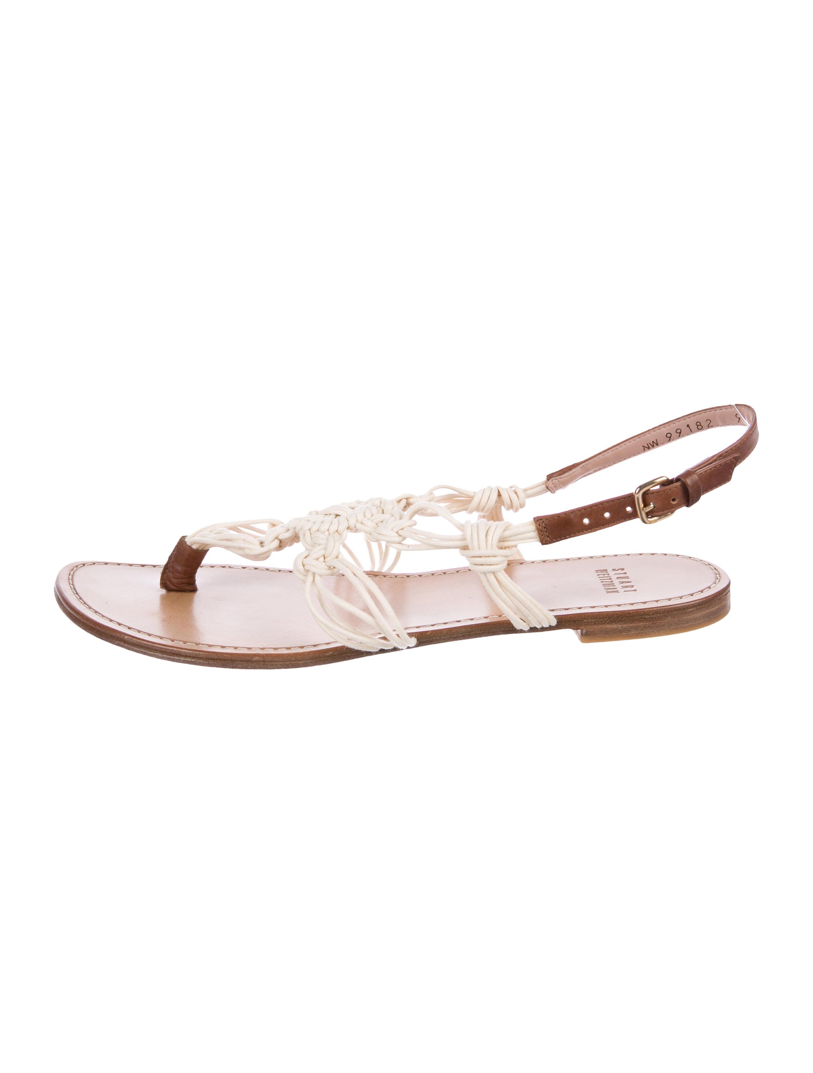 88119f36d1e Stuart Weitzman Crochet Thong Sandals - Shoes - WSU44285