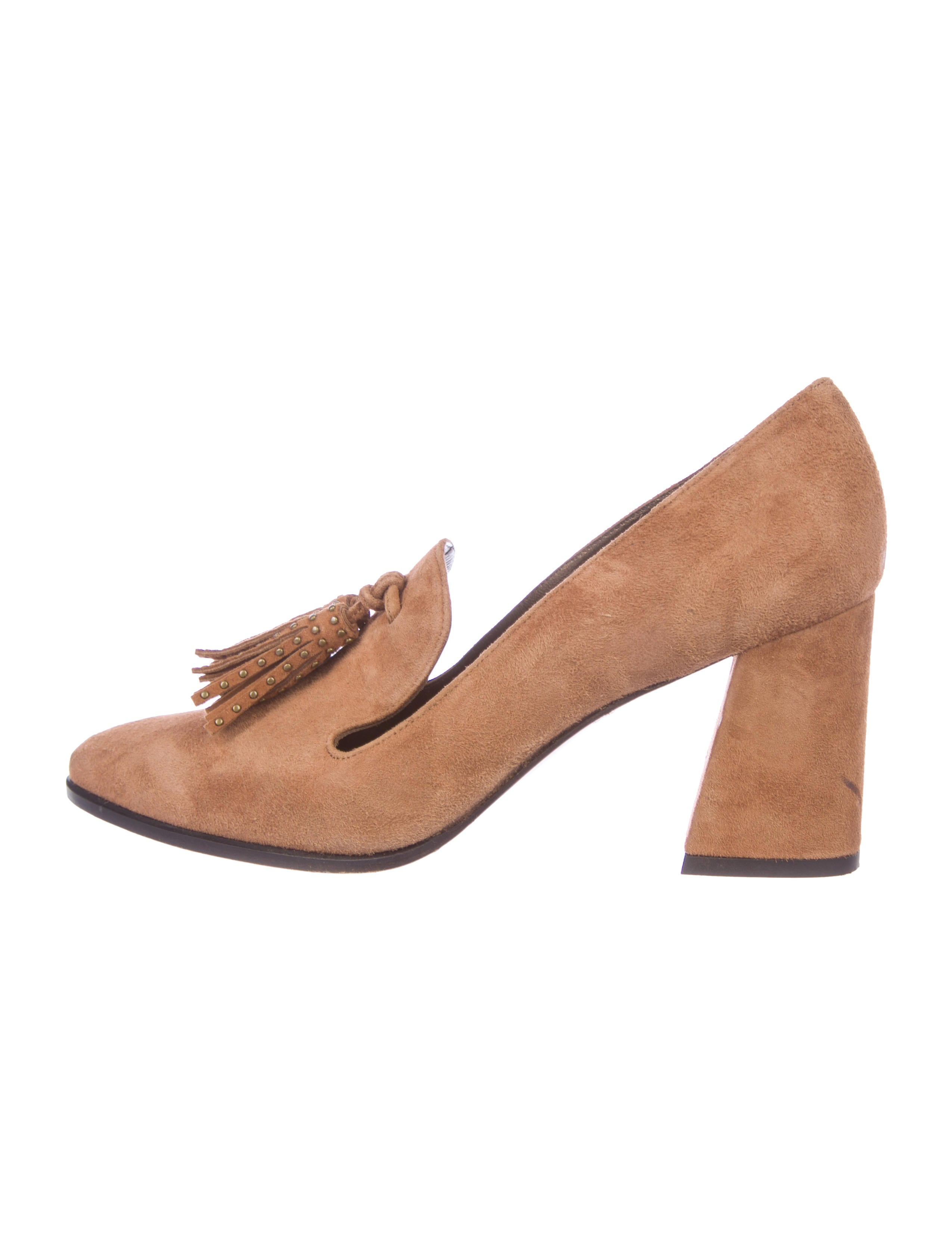 outlet 2015 new Stuart Weitzman Tassel-Embellished Loafer Pumps buy cheap store clearance latest collections QaNVVls8C