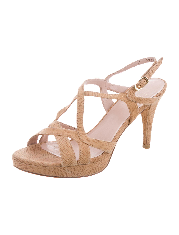 Stuart Weitzman Goosebumps Interlocking Sandals outlet visa payment buy cheap new styles cheap cheap online buy cheap new arrival GkC80