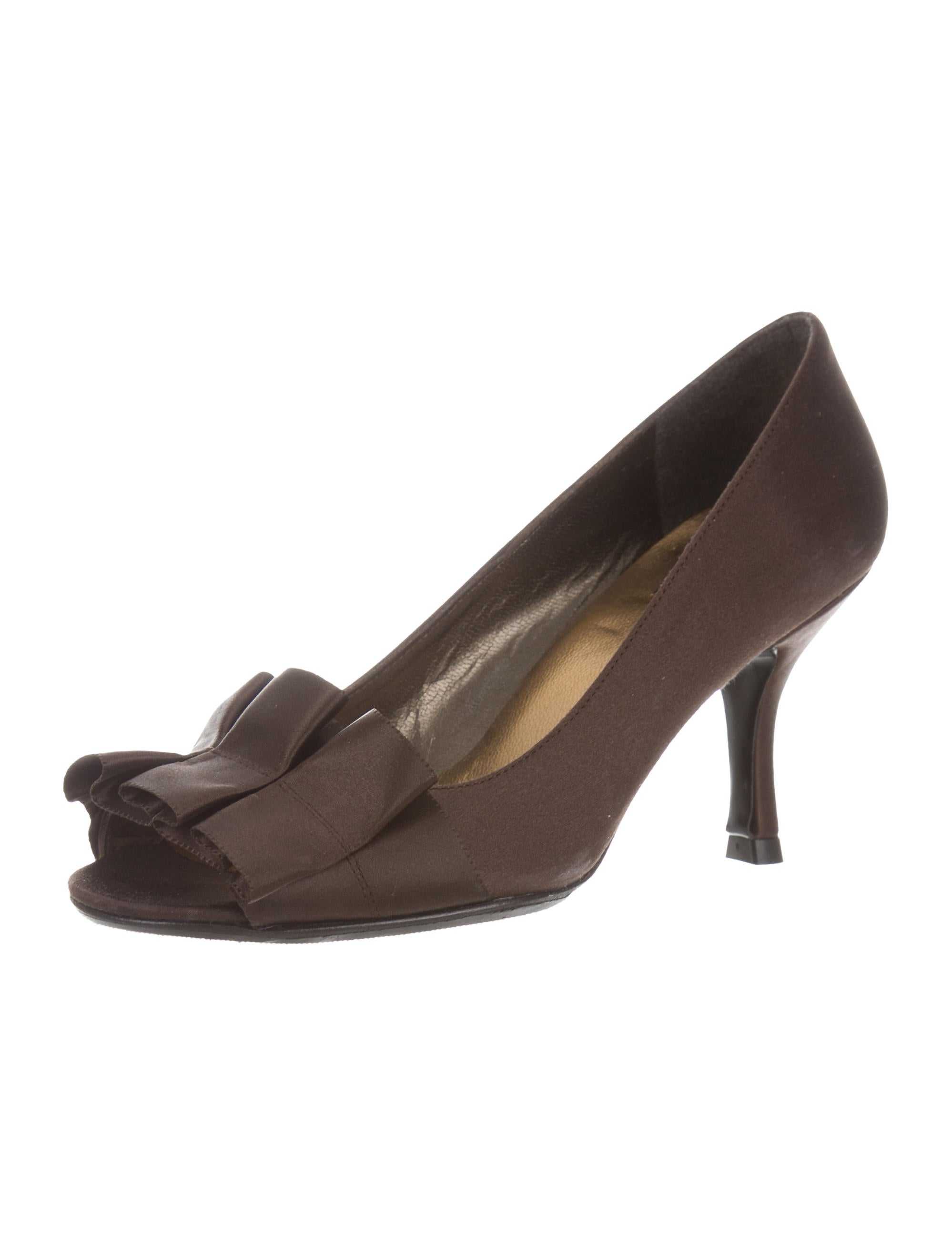 discount huge surprise free shipping outlet Stuart Weitzman Ruffle-Accented Peep-Toe Pumps high quality for sale 2014 cheap sale rRvmgsfb