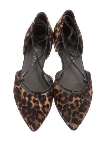 Leopard Lace-Up Flats