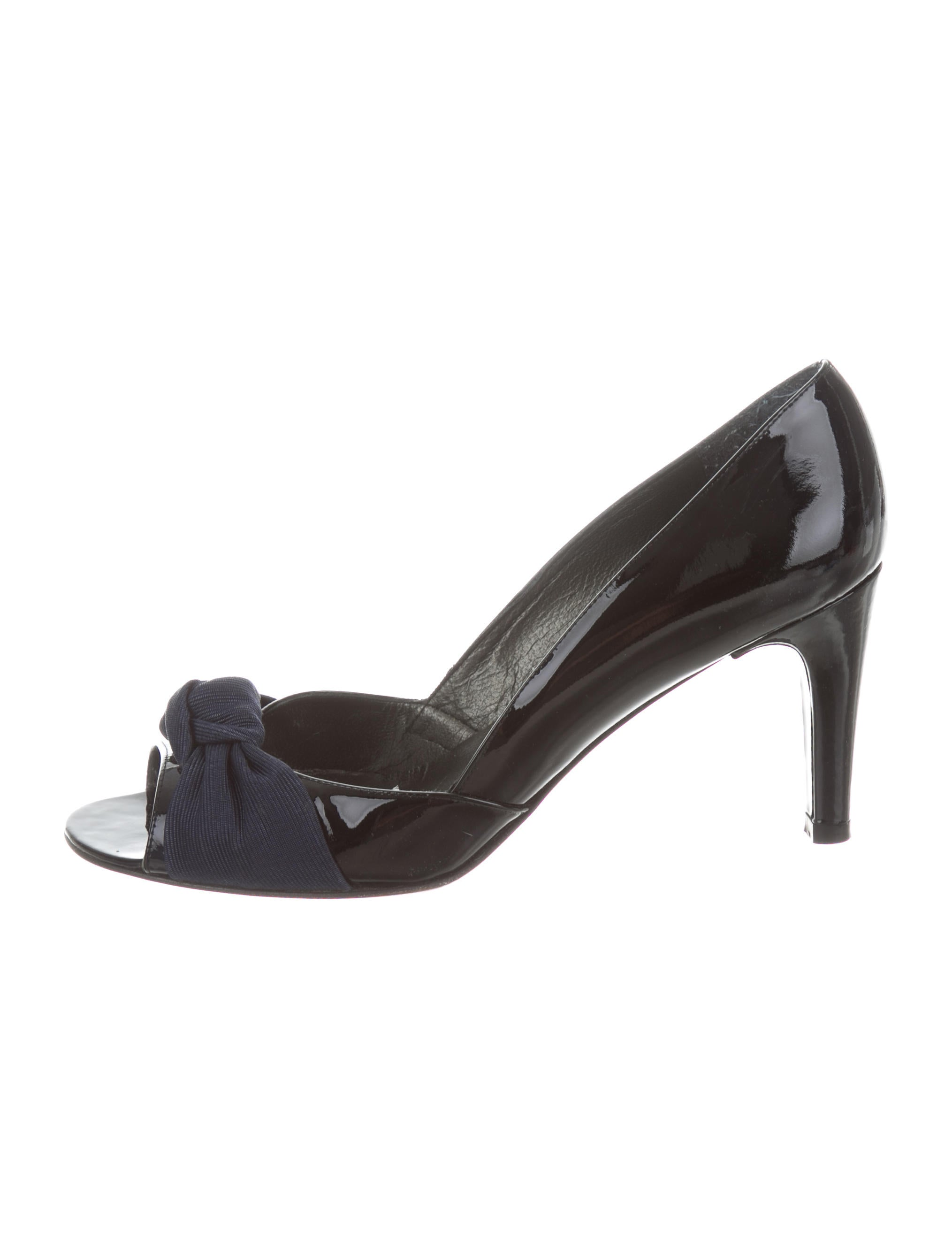 outlet sast Manchester cheap price Stuart Weitzman Knot-Accented Slingback Pumps cheap visit new sale clearance store outlet the cheapest xsWES0RP