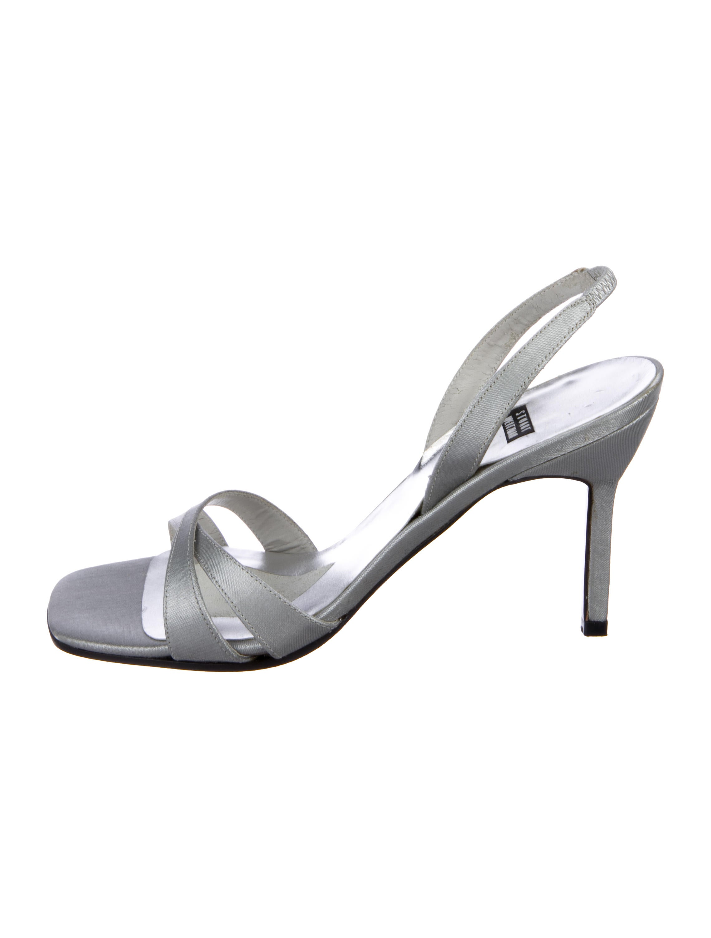 cost cheap sale popular Stuart Weitzman Satin Crossover Sandals free shipping lowest price cheap 2015 7fhJPU6S