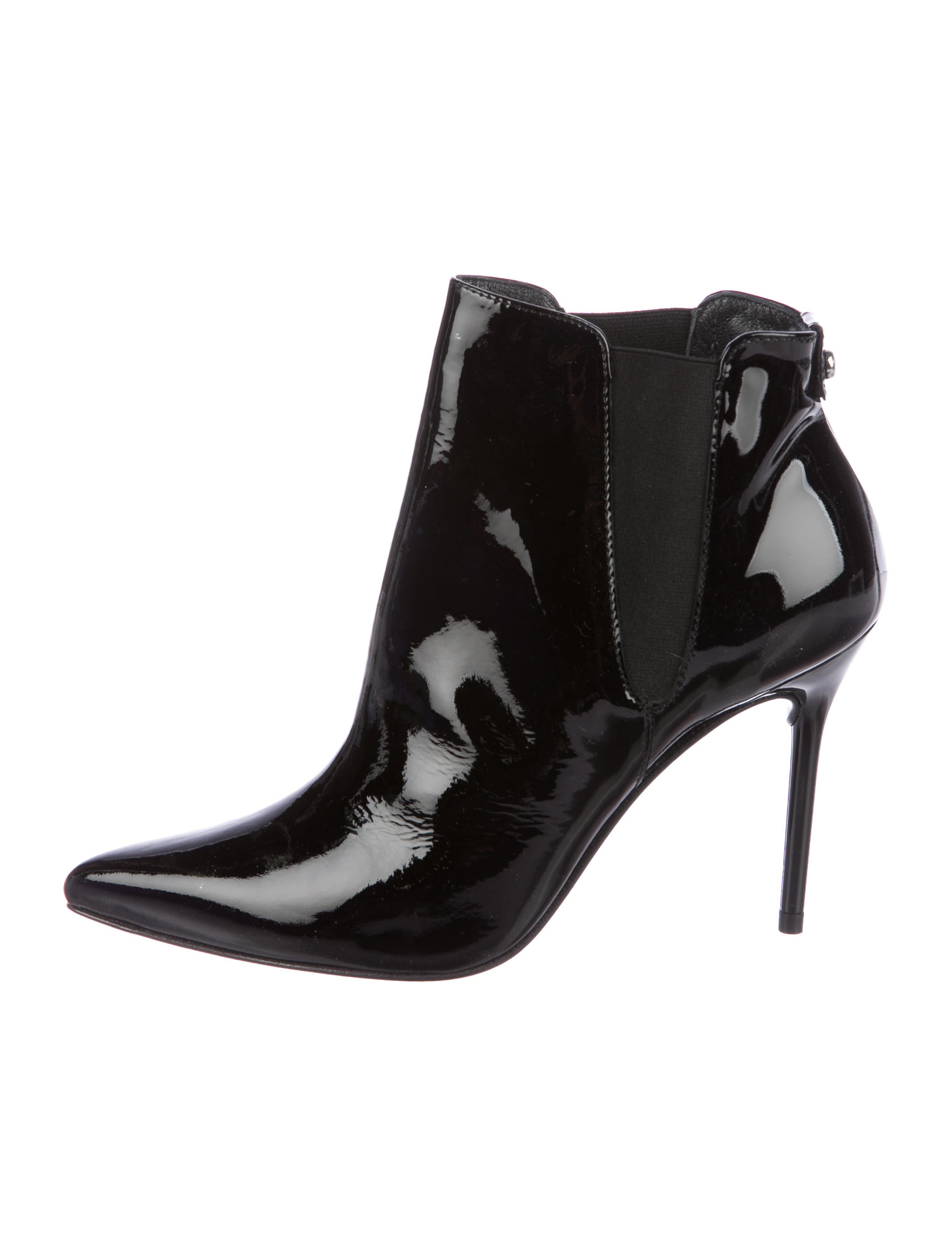 outlet with mastercard discount 100% guaranteed Stuart Weitzman Apogee Patent Booties r47nX0Zbj