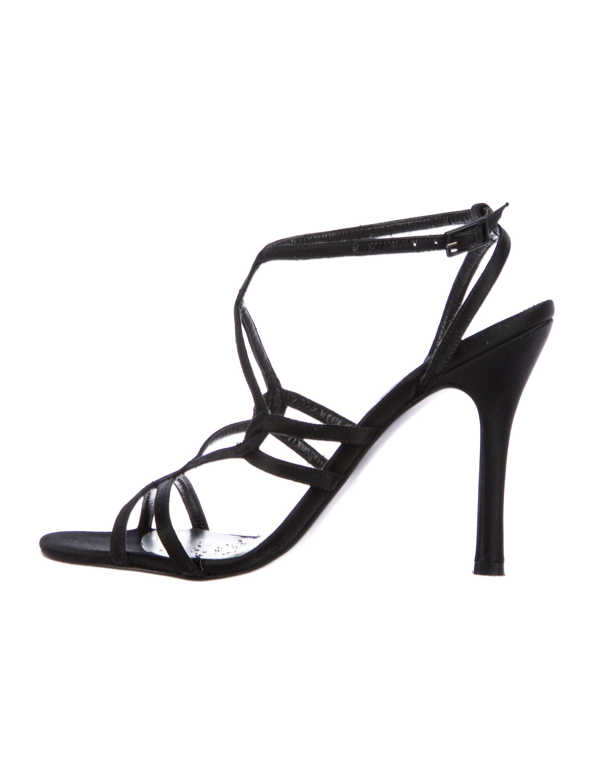 Stuart Weitzman Satin Caged Sandals cheap authentic outlet sale factory outlet cheap sneakernews best store to get for sale buy cheap find great OoWxQ9eJu1