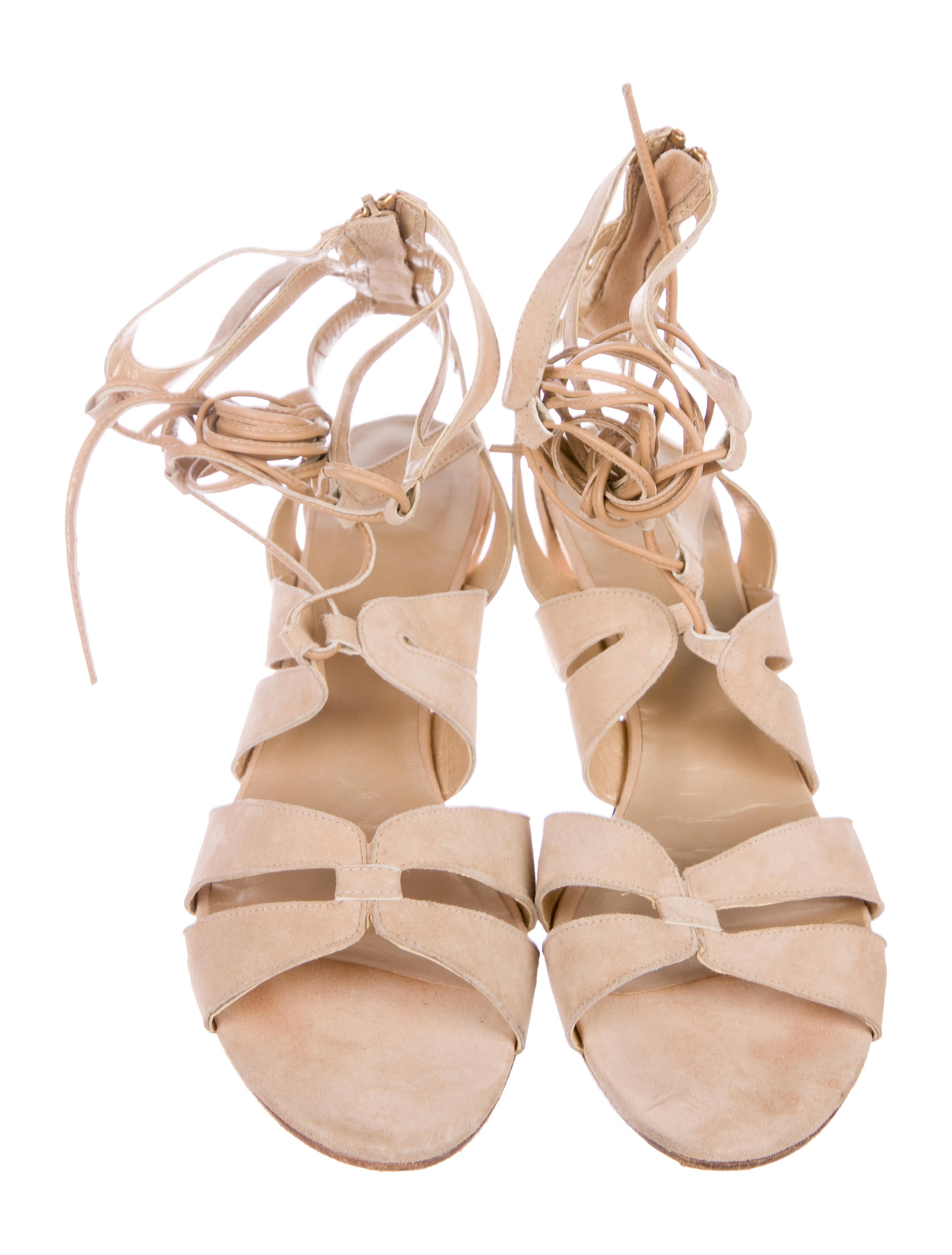 Stuart Weitzman Tie Girl Suede Multi-Strap Lace-Up Sandals quality free shipping outlet cheap sale extremely online Shop outlet locations cheap online factory outlet cheap price oyyFY40n
