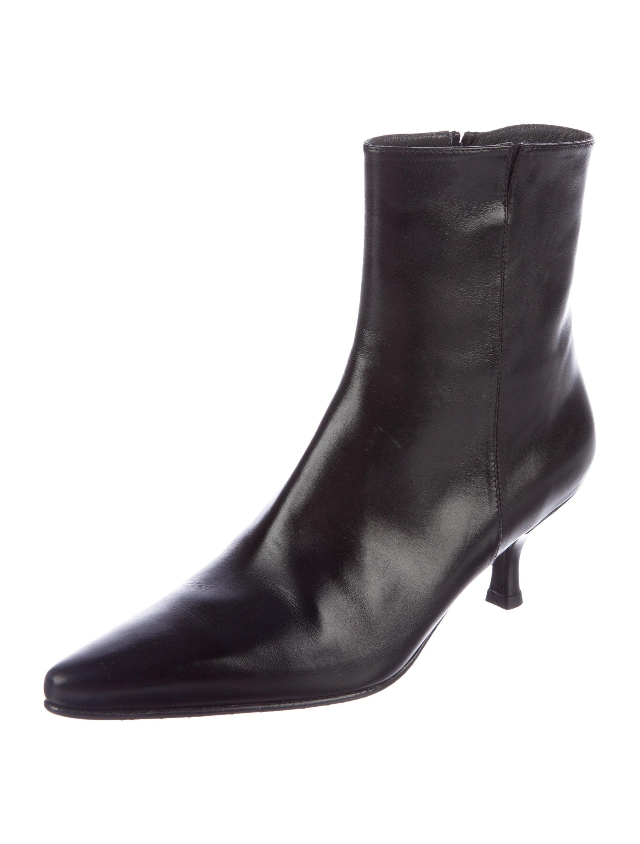 cheap 100% original cheap sale largest supplier Stuart Weitzman Pluto Leather Ankle Boots visa payment sale online cheap perfect dZYuOtADc