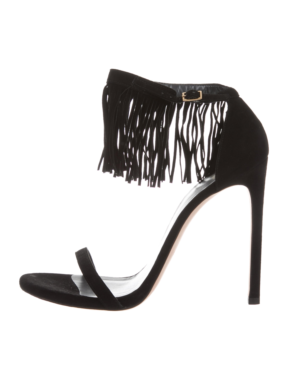 2015 new cheap online sale view Stuart Weitzman Lovefringe Suede Sandals w/ Tags FSGgt