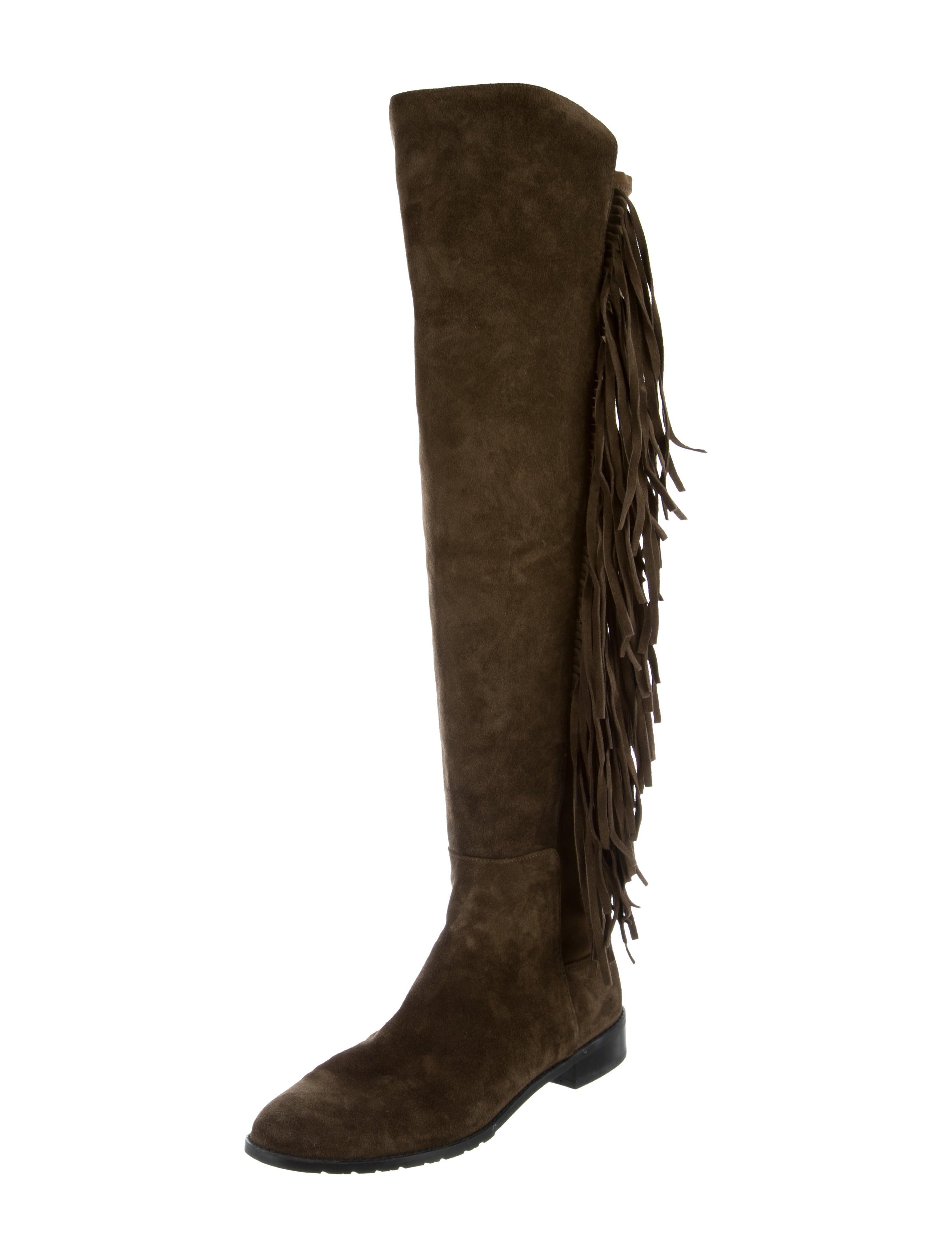 Stuart Weitzman ChicBoot Fringe Boots 2014 new cheap online low cost for sale cheap best seller sale footlocker finishline for sale online store 5dk04Rq