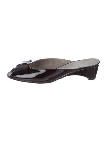 Stuart Weitzman Leather Bow-Accented Mules for sale top quality find great online Hp74BFd3IB