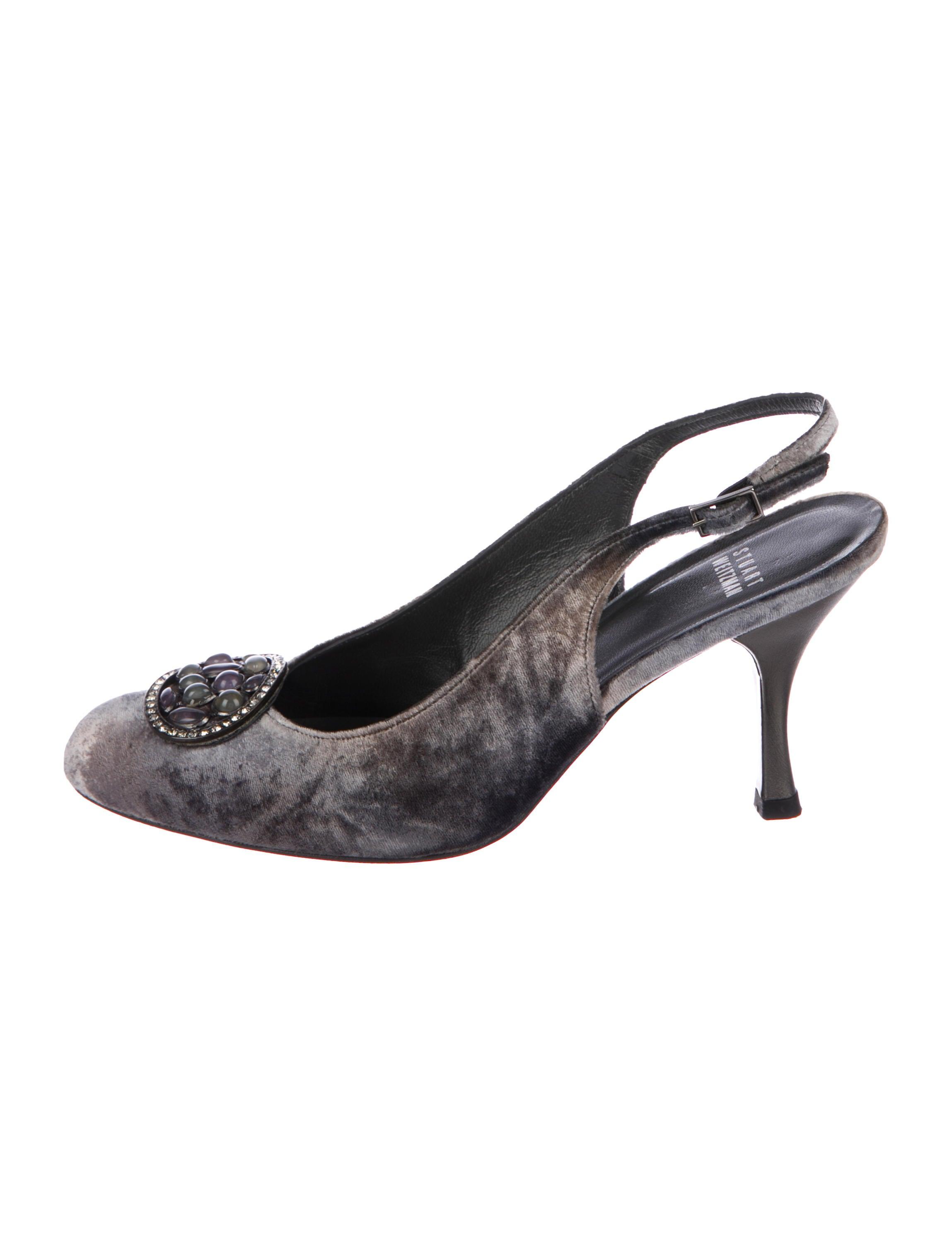 Stuart Weitzman Velvet Embellished Pumps Shoes Wsu52089 The