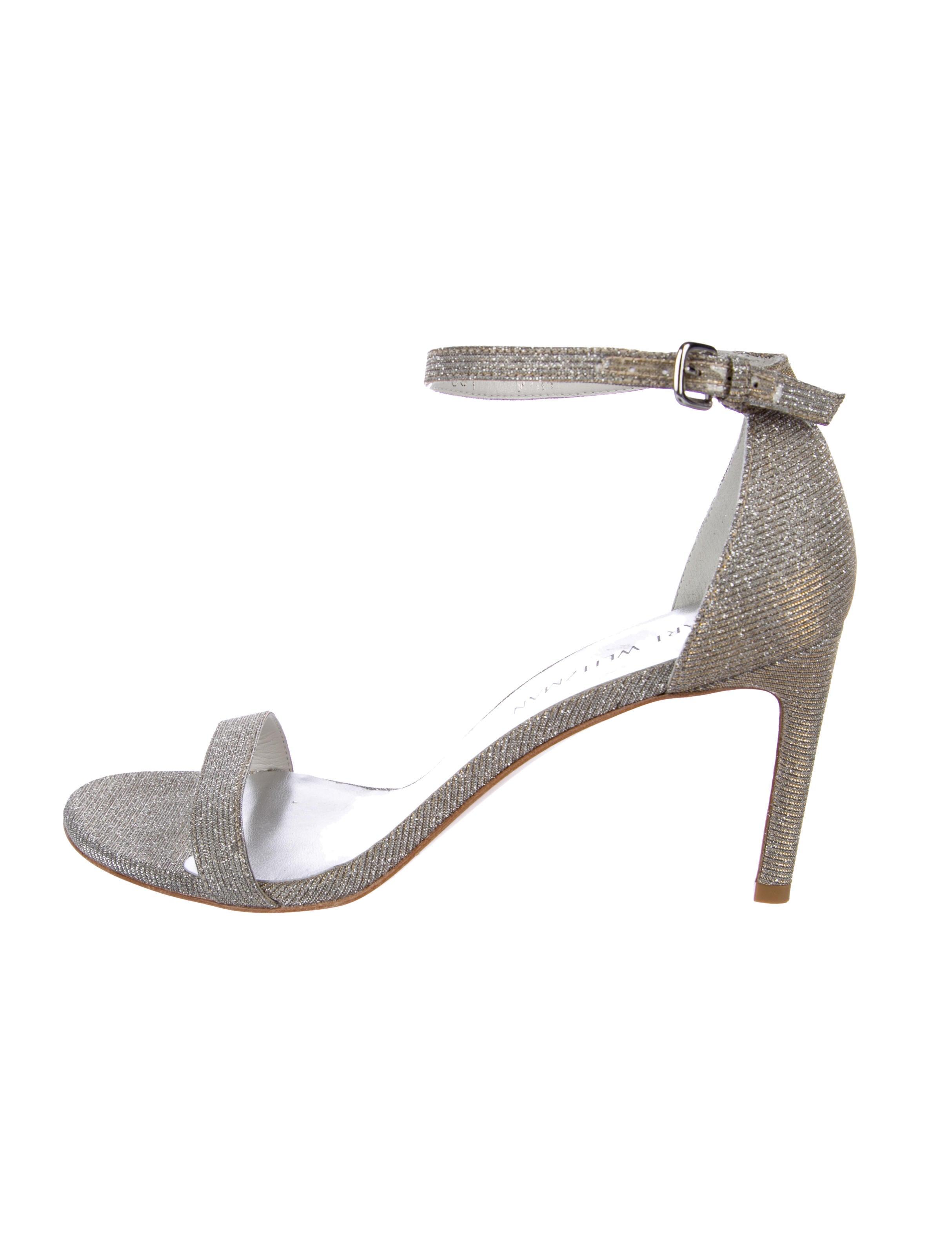 7257979cfa17 Stuart Weitzman Nudist Glitter Sandals - Shoes - WSU64703