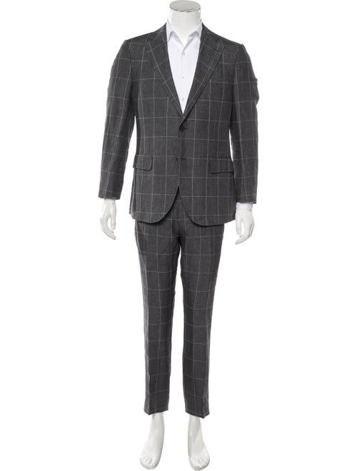 Suitsupply Linen Two-Piece Suit grey