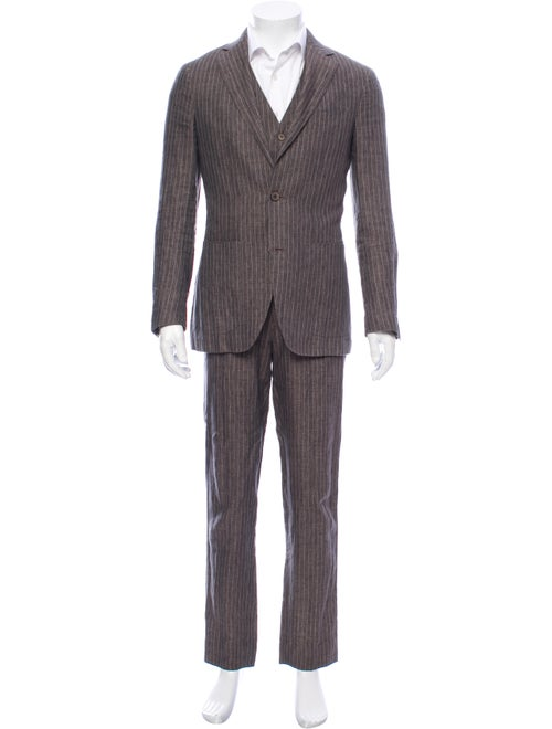 Suitsupply Linen Three-Piece Suit grey