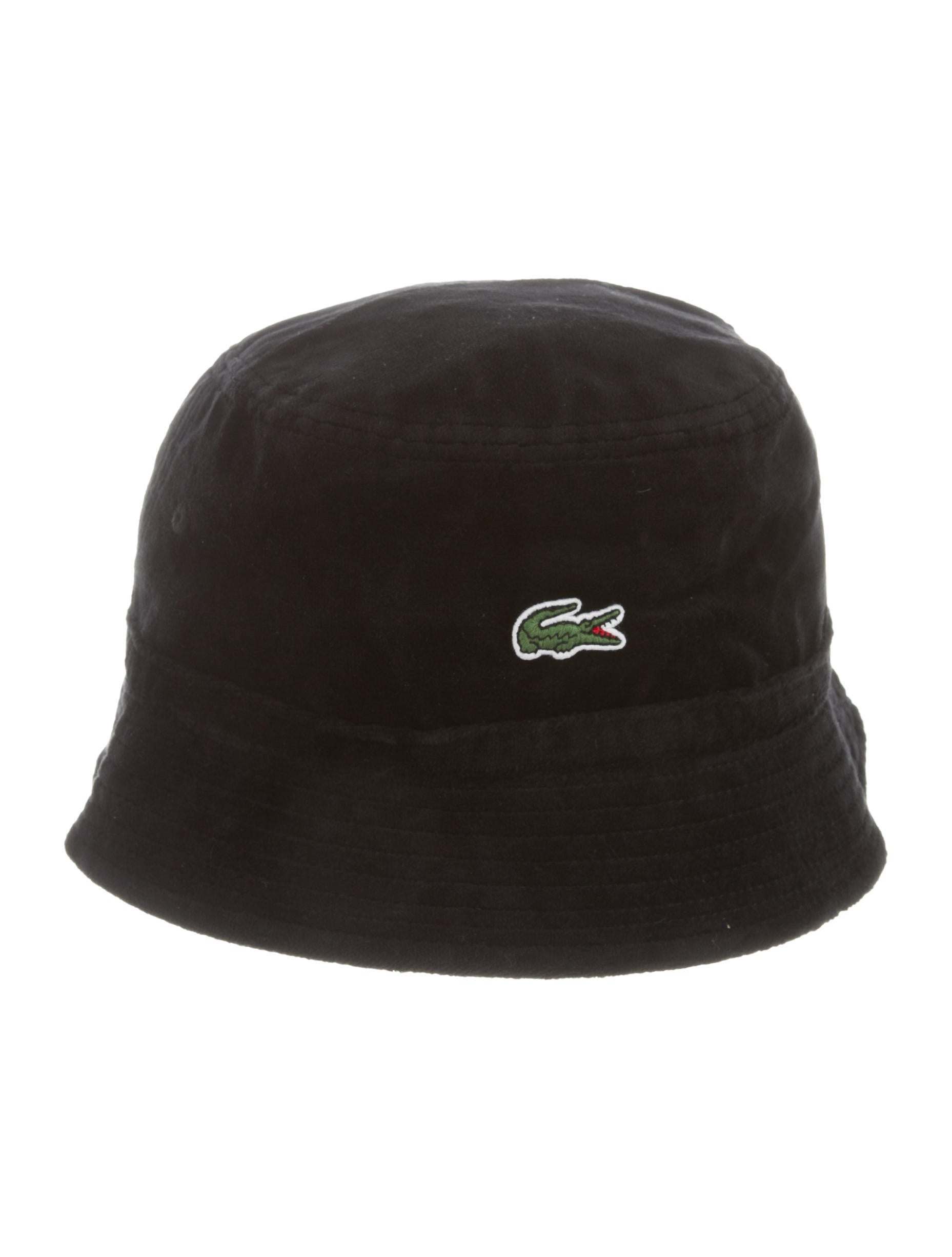 Supreme x Lacoste 2018 Velour Bucket Hat w  Tags - Accessories ... 5487b3b05f9