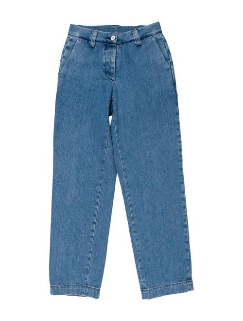 Sunnei Mid-Rise Straight Leg Jeans Blue