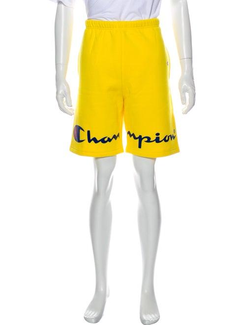Supreme x Champion Logo Jogger Shorts Yellow