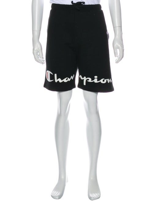 Supreme x Champion Graphic Print Jogger Shorts Bla
