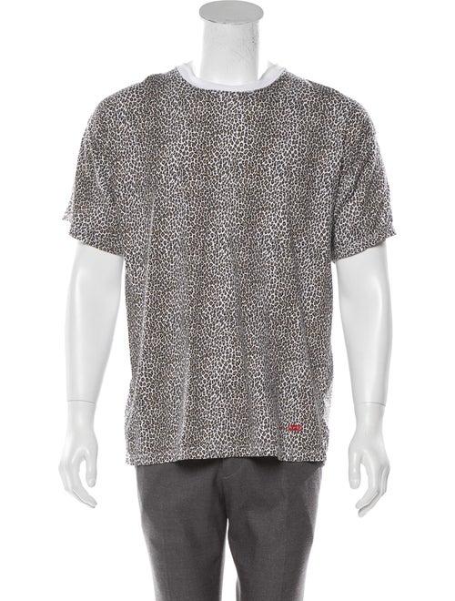 Supreme x Hanes 2019 Leopard Tagless T-Shirt tan