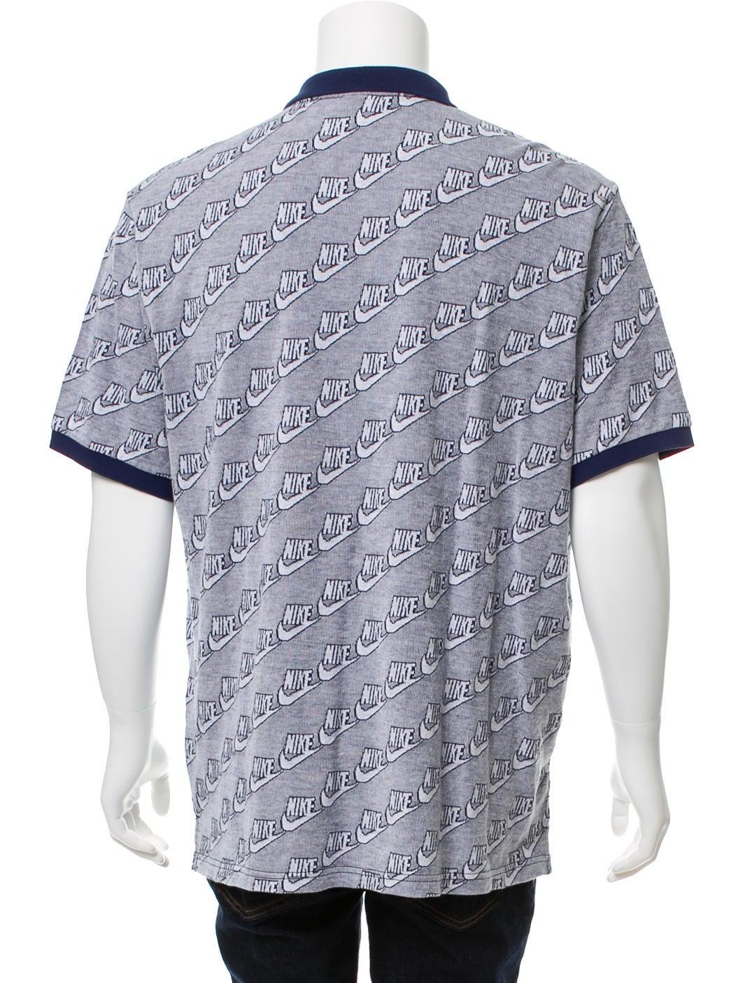 supreme x nike polo shirt