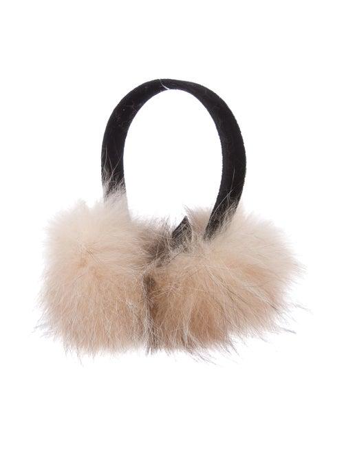 Surell Fox Fur Earmuffs Black