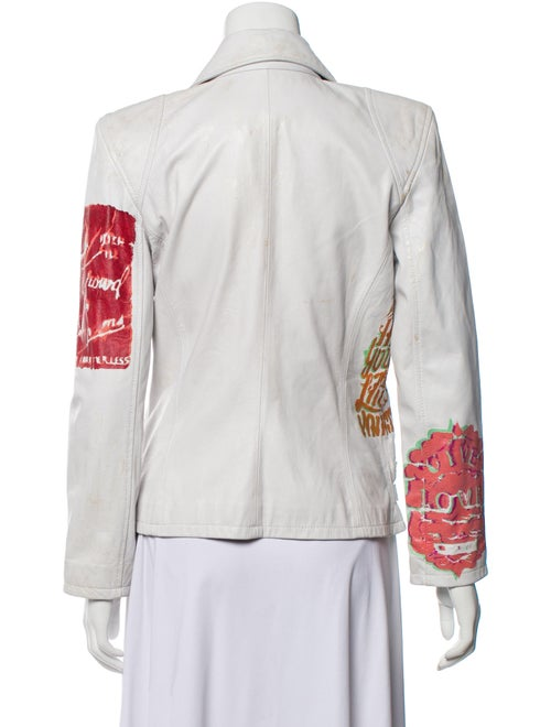 S.w.o.r.d. Leather Biker Jacket White