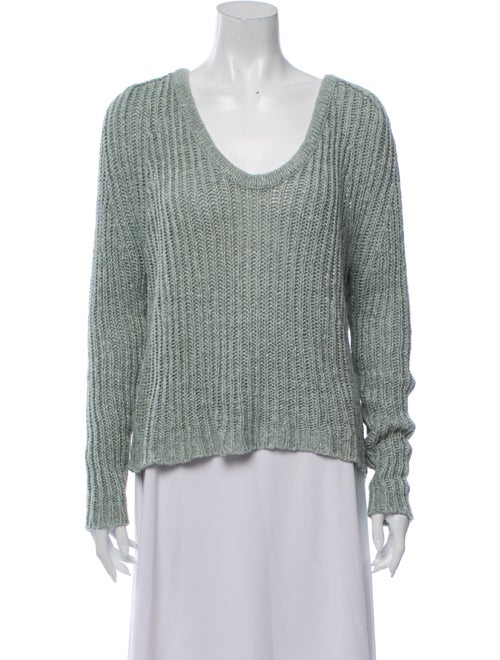 360 Sweater Silk V-Neck Sweater Green
