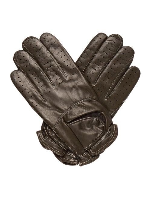 Sermoneta Gloves Leather Cashmere-Trimmed Gloves O