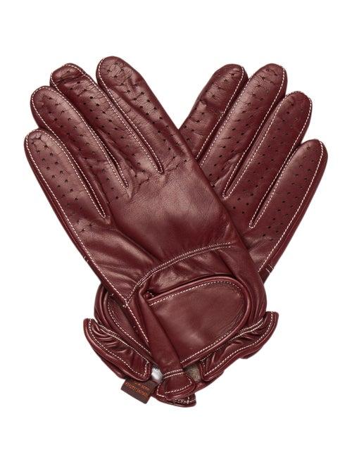 Sermoneta Gloves Leather Cashmere-Trimmed Gloves R