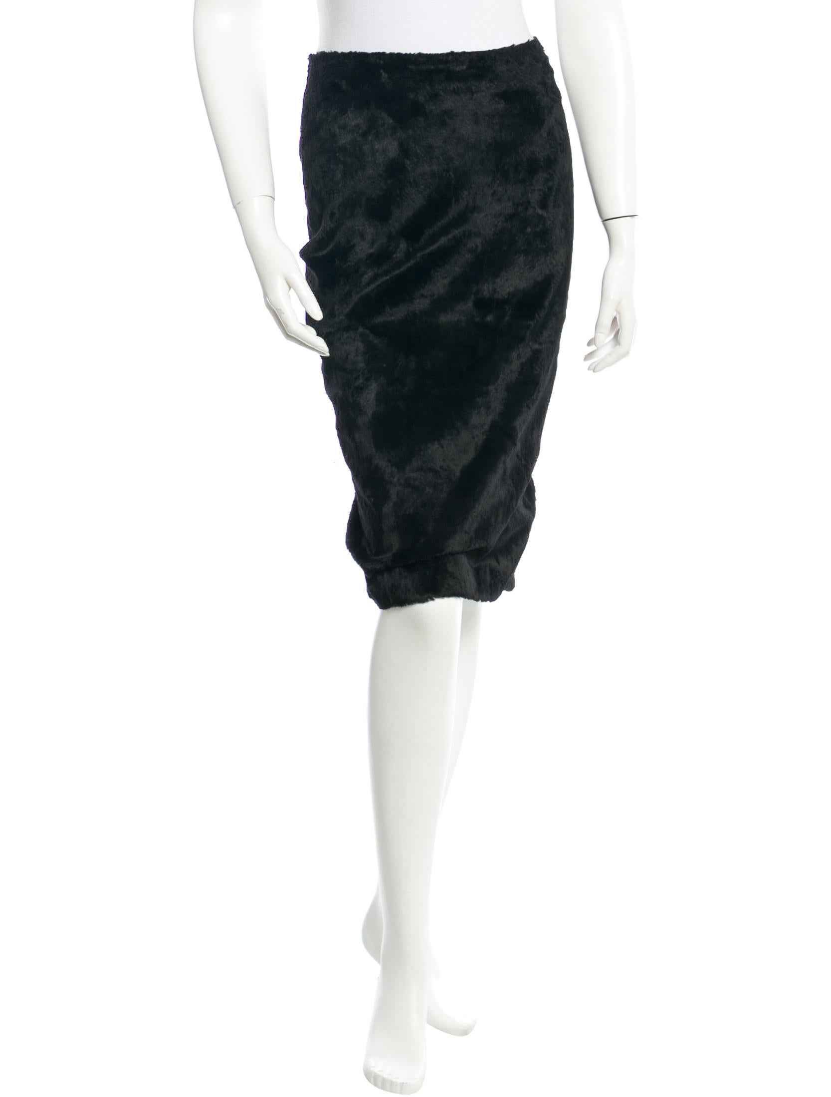 tocca faux fur skirt clothing wt020030 the realreal