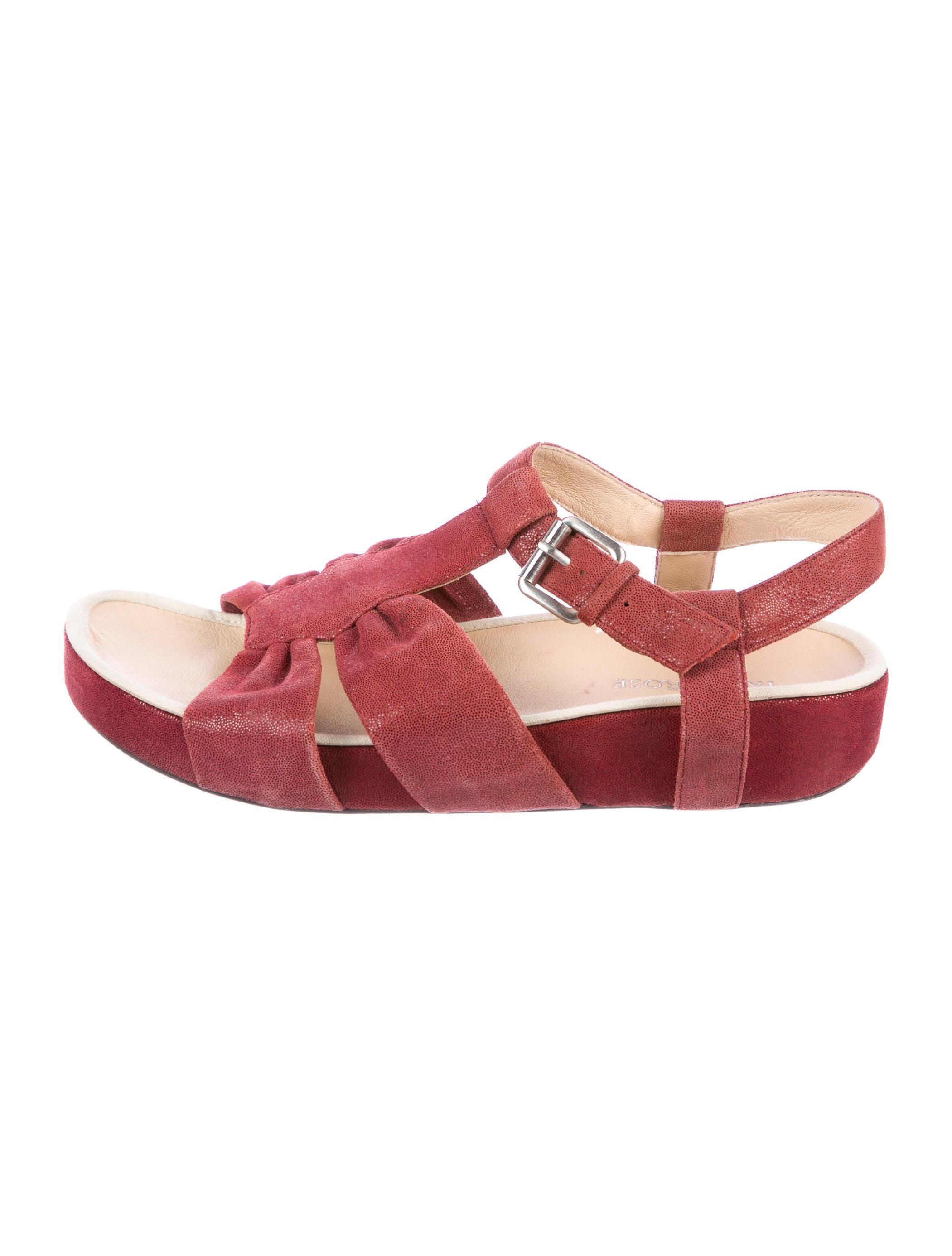 Taryn Rose Suede Ankle Strap Sandals cost for sale mKKpDSwr