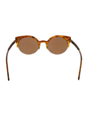 Marbled Round Sunglasses